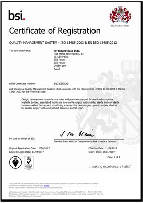 Hpbio | Certificado ISO 13.485