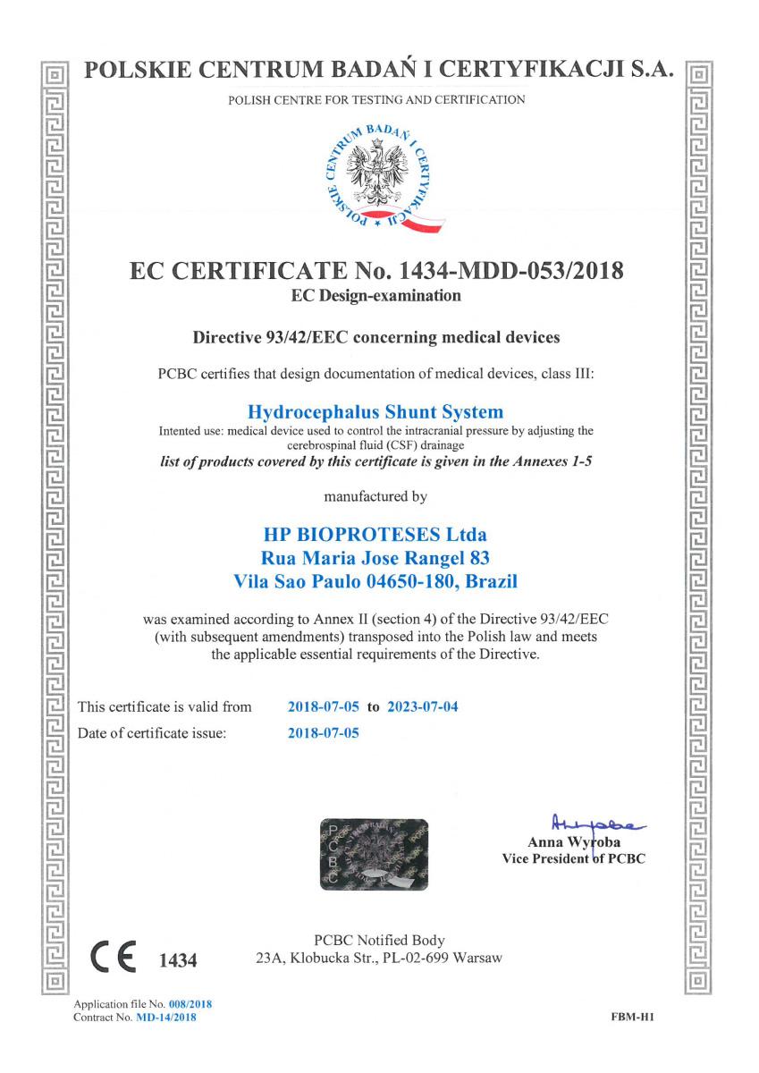 Certificado CE Sphera shunt 01 - Hpbio