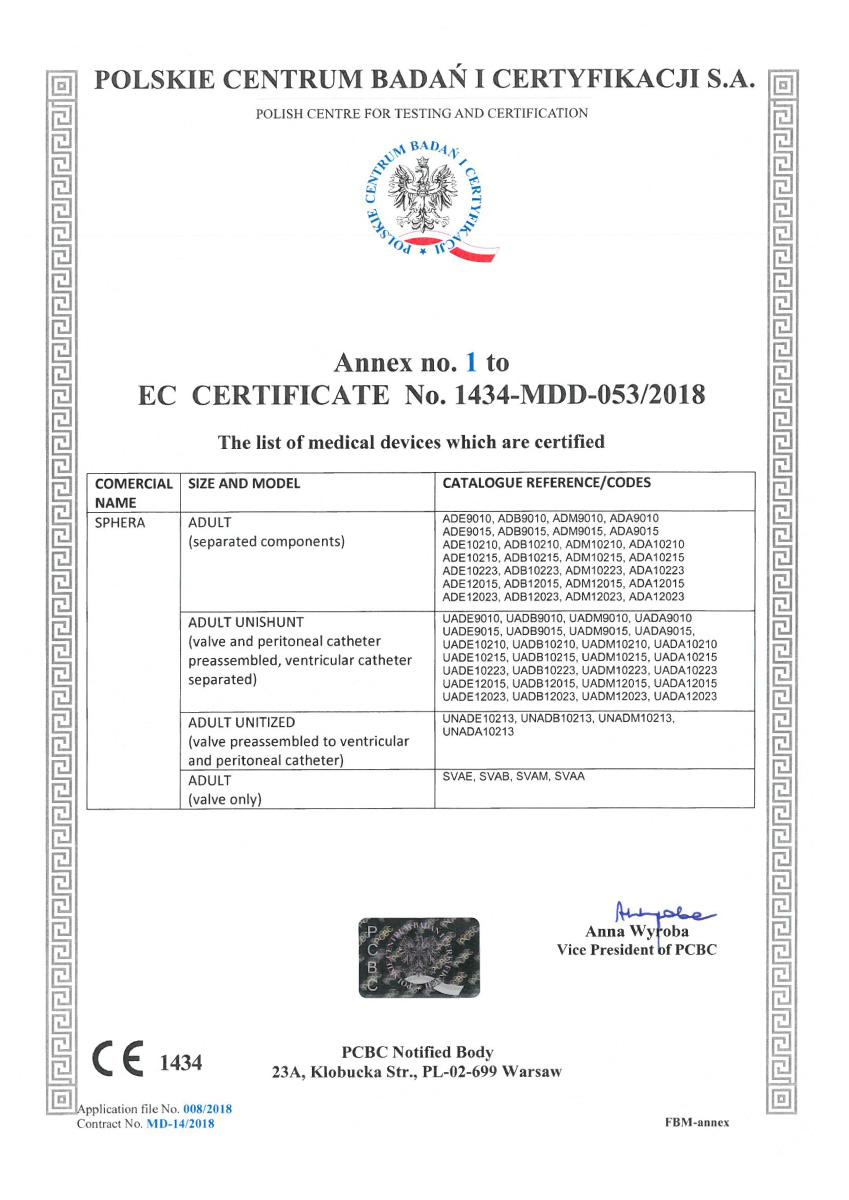 Certificado CE Sphera shunt 02 - Hpbio