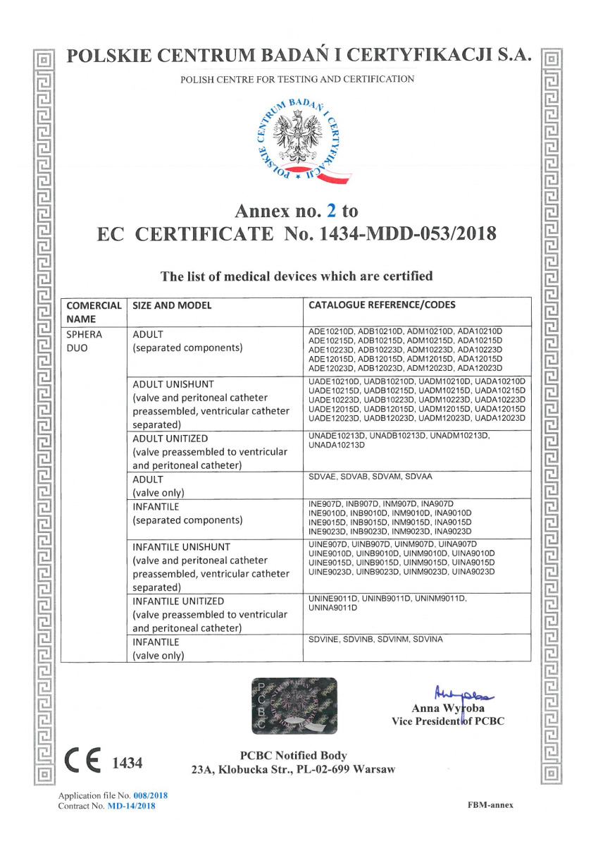 Certificado CE Sphera shunt 03 - Hpbio