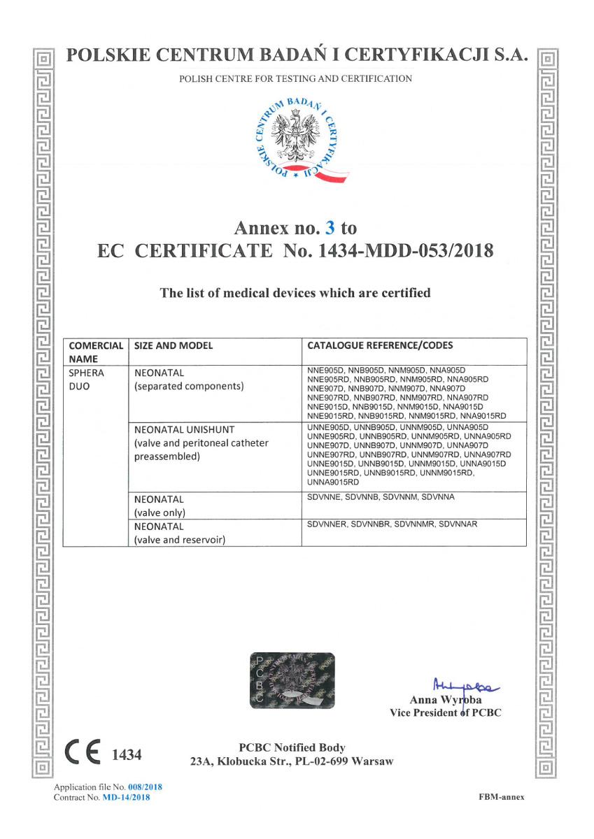 Certificado CE Sphera shunt 04 - Hpbio