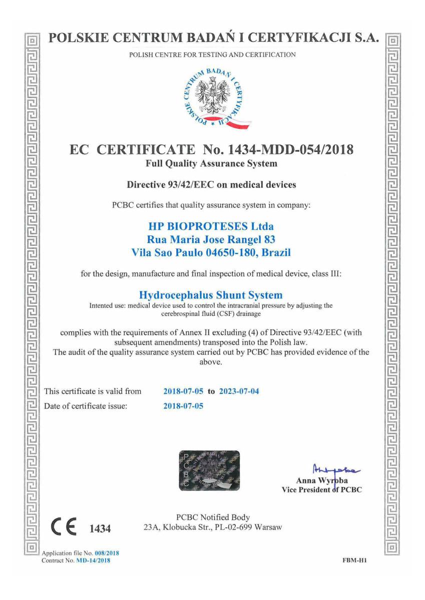 Certificado CE Sphera shunt 07 - Hpbio